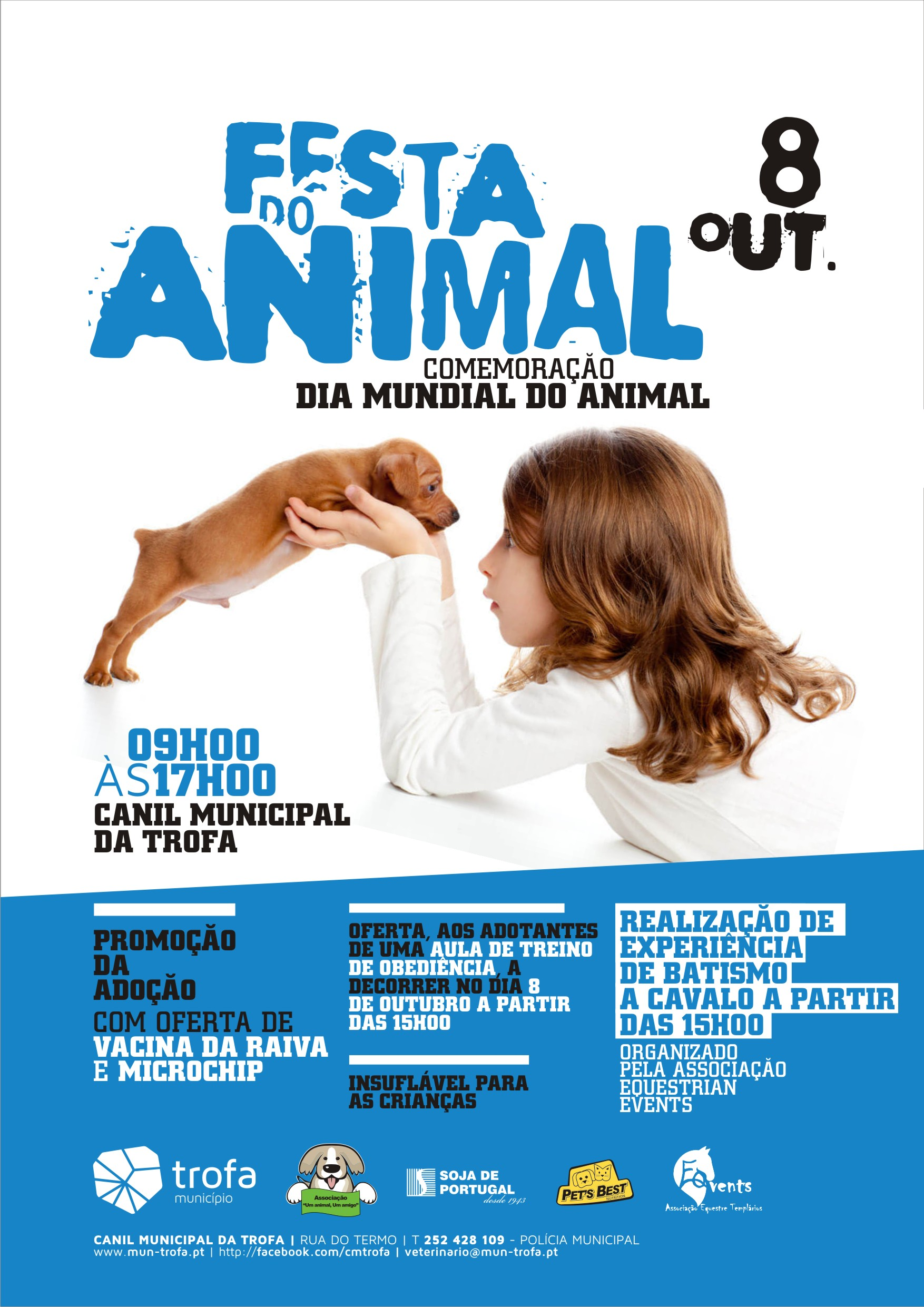 "SORGAL PET FOOD apoia ""Festa do animal"" da Camara Municipal da Trofa"