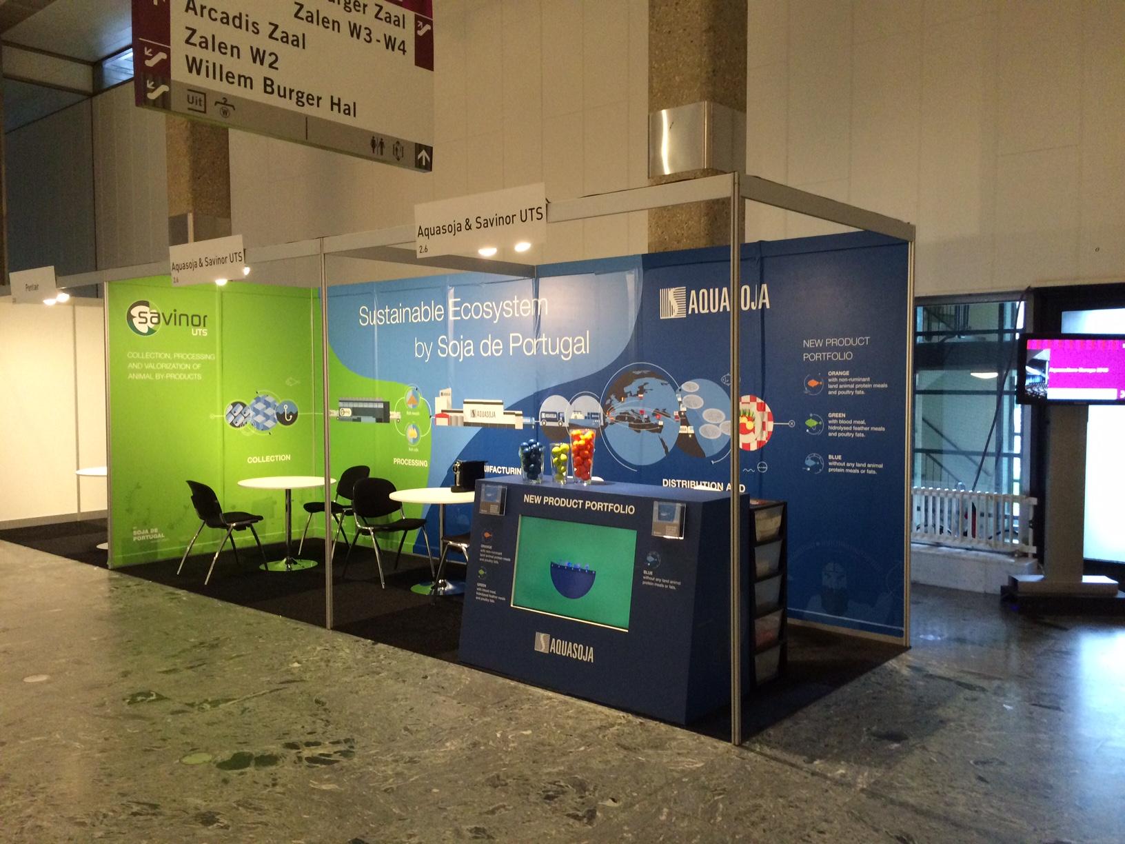 AQUASOJA e SAVINOR UTS juntam-se em Roterdão para participarem na Sociedade Europeia de Aquacultura